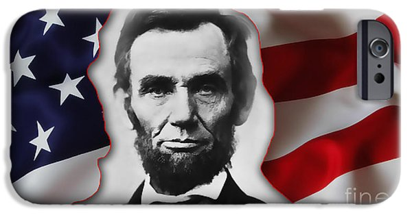 Abraham Lincoln iPhone Cases - Abraham Lincoln iPhone Case by Marvin Blaine