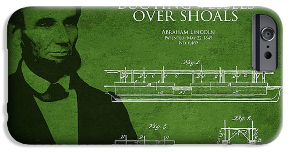 White House iPhone Cases - Abraham Lincoln Patent from 1849 iPhone Case by Aged Pixel