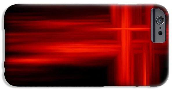 Shape iPhone Cases - Abstract in Red iPhone Case by GP Images
