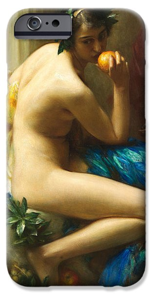 Allegory iPhone Cases - Abundance iPhone Case by Arthur Hacker