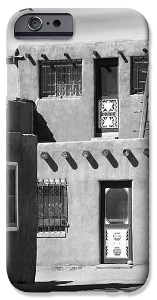 New Mexico Digital iPhone Cases - Acoma Pueblo Adobe Homes iPhone Case by Mike McGlothlen
