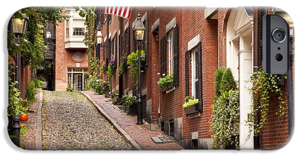 Recently Sold -  - Boston iPhone Cases - Acorn Street Boston iPhone Case by Brian Jannsen