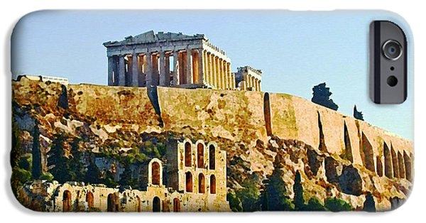Acropolis iPhone Cases - Acropolis iPhone Case by Ellen Henneke