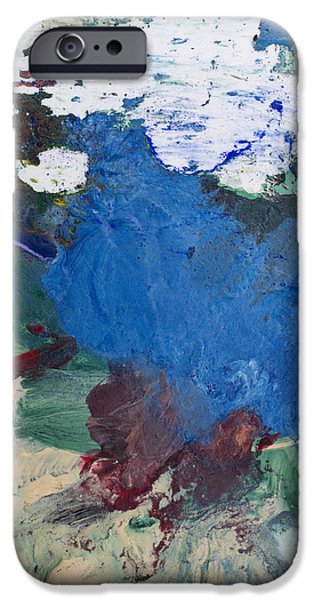 Pallet Knife Paintings iPhone Cases - Acrylic Abstract Painting iPhone Case by Donald  Erickson