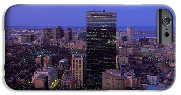 City. Boston iPhone Cases - Aerial View Of A City, Boston, Suffolk iPhone Case by Panoramic Images