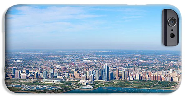 Willis Tower iPhone Cases - Aerial View Of A Cityscape, Trump iPhone Case by Panoramic Images