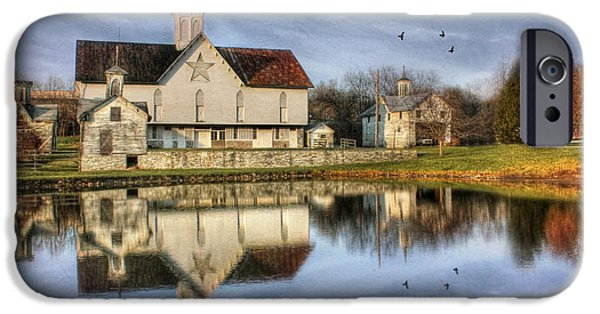 Lori Deiter Digital Art iPhone Cases - Afternoon at the Star Barn iPhone Case by Lori Deiter
