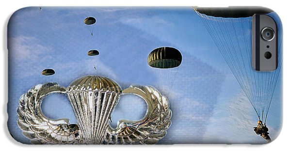 Pope iPhone Cases - Airborne iPhone Case by JC Findley