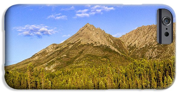 Highway iPhone Cases - Alaska Mountains iPhone Case by Chad Dutson