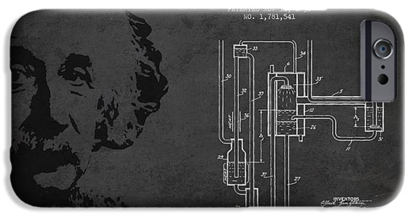 Technical iPhone Cases - Albert Einstein Patent Drawing from 1930 iPhone Case by Aged Pixel