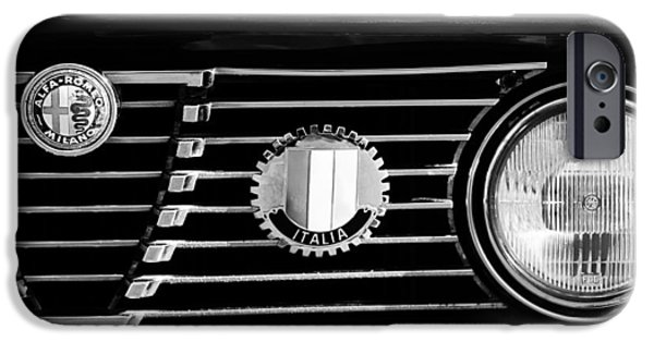 Alfa Romeo iPhone Cases - Alfa-Romeo Grille Emblem iPhone Case by Jill Reger