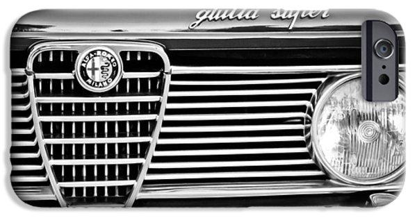 Alfa Romeo iPhone Cases - Alfa-Romeo Guilia Super Grille Emblem iPhone Case by Jill Reger