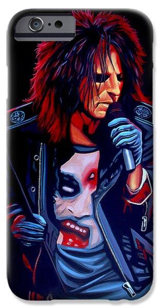 Alice iPhone Cases - Alice Cooper  iPhone Case by Paul  Meijering