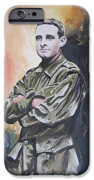 Wwi Paintings iPhone Cases - All our Grandfathers iPhone Case by Leonie Bell