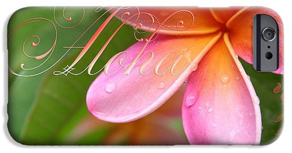 Tree Art Print iPhone Cases - Aloha iPhone Case by Sharon Mau