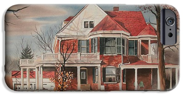 Drama Mixed Media iPhone Cases - American Home III iPhone Case by Kip DeVore
