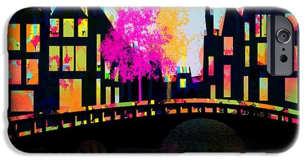 Animation iPhone Cases - Amsterdam iPhone Case by Mark Ashkenazi