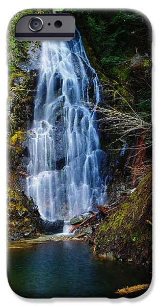 Snow Melt iPhone Cases - An Angel In The Falls iPhone Case by Jeff  Swan