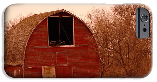 Old Barns iPhone Cases - An Old Red Barn iPhone Case by Jeff  Swan