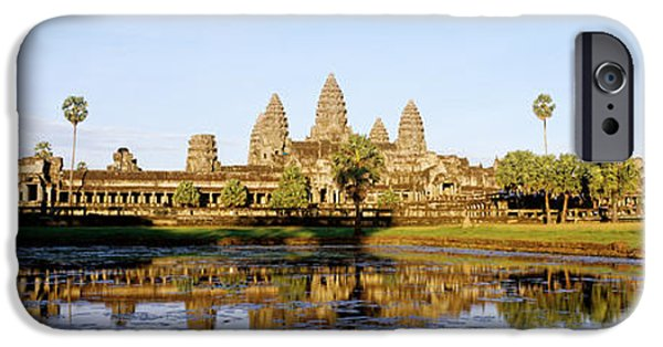 Ancient Ruins iPhone Cases - Angkor Wat, Cambodia iPhone Case by Panoramic Images