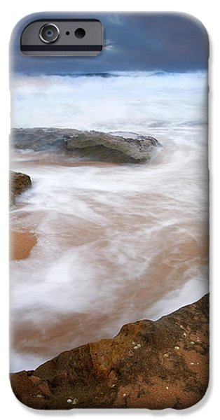 Angry Sea iPhone Case by Mike  Dawson