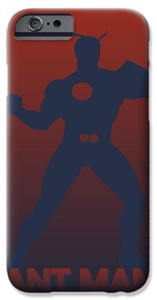 Ant iPhone Cases - Ant Man iPhone Case by Joe Hamilton