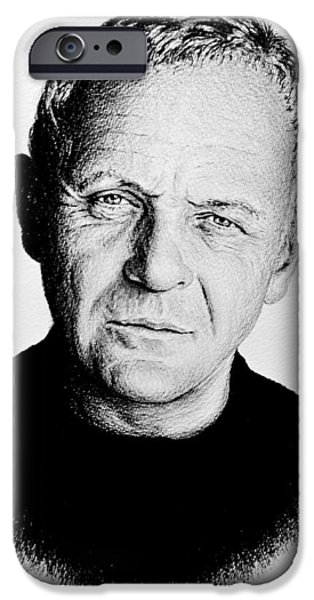 1990s iPhone Cases - Anthony Hopkins  iPhone Case by Andrew Read