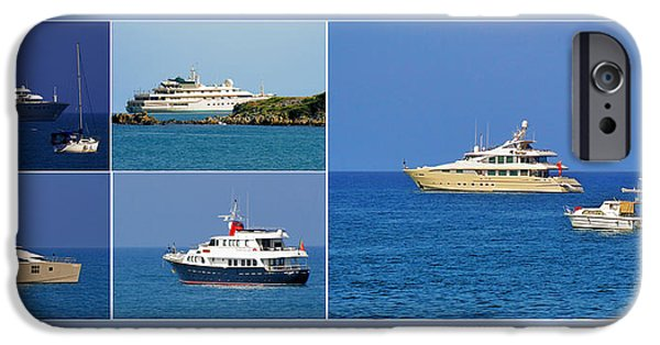 Interior Scene iPhone Cases - Antibes - Superyachts of Billionaires iPhone Case by Christine Till