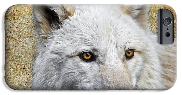 Preditor iPhone Cases - Arctic White Wolf  iPhone Case by Steve McKinzie