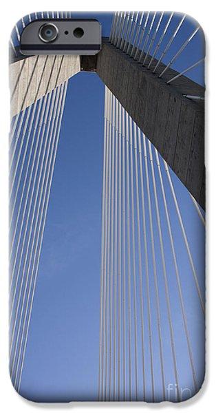 Arthur iPhone Cases - Arthur Ravenel Jr Bridge Charleston SC iPhone Case by Dustin K Ryan