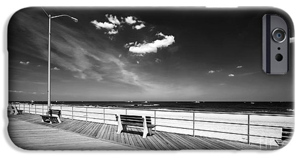 Asbury Park iPhone Cases - Asbury Benches iPhone Case by John Rizzuto