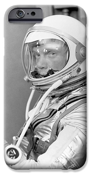 Politician iPhone Cases - Astronaut John Glenn iPhone Case by War Is Hell Store