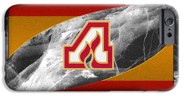 Flame iPhone Cases - Atlanta Flames iPhone Case by Joe Hamilton