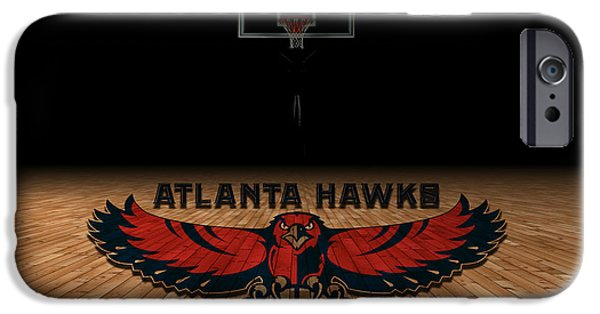 Division iPhone Cases - Atlanta Hawks iPhone Case by Joe Hamilton