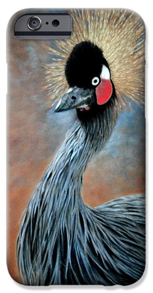 Animal Pastels iPhone Cases - Attitude Bird iPhone Case by Carol McCarty
