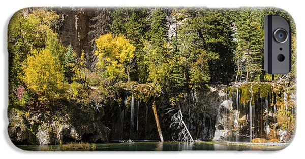 Autumn Scenes Photographs iPhone Cases - Autumn At Hanging Lake Waterfall - Glenwood Canyon Colorado iPhone Case by Brian Harig