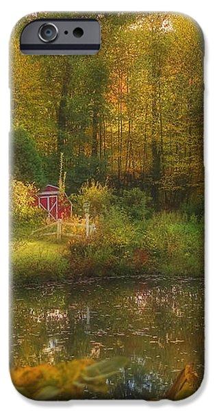 Autumn Gazebo iPhone Case by Joann Vitali
