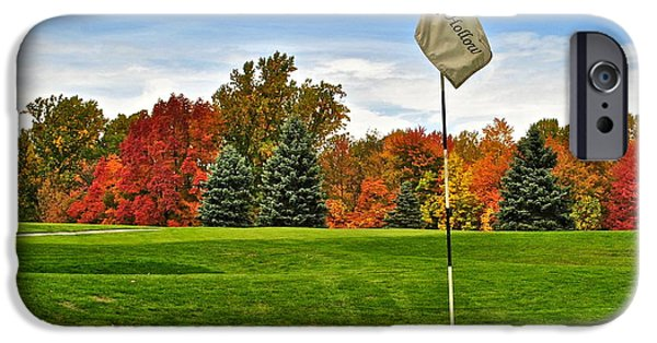 Us Open Photographs iPhone Cases - Autumn Golf iPhone Case by Frozen in Time Fine Art Photography