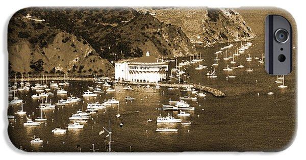 Wrigley Digital Art iPhone Cases - Avalon Bay Santa Catalina Island iPhone Case by Barbara Snyder