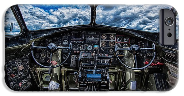 P-51 Mustang iPhone Cases - B-17 Cockpit iPhone Case by Mike Burgquist