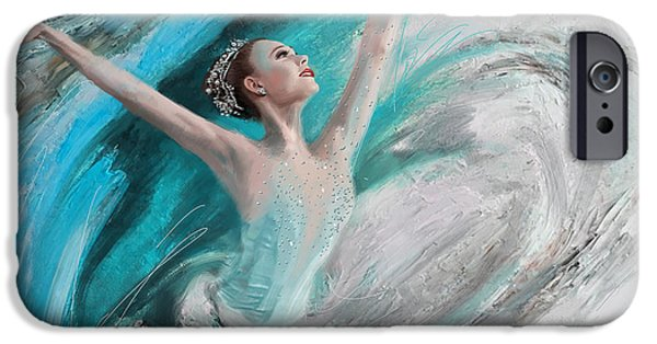 Ballet Dancers Paintings iPhone Cases - Ballerina  iPhone Case by Corporate Art Task Force