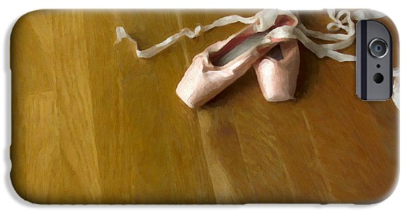 Dance Studio iPhone Cases - Ballet Slippers iPhone Case by Diane Diederich