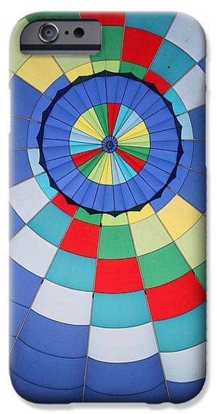 Basket iPhone Cases - Balloon Fantasy 23 iPhone Case by Allen Beatty