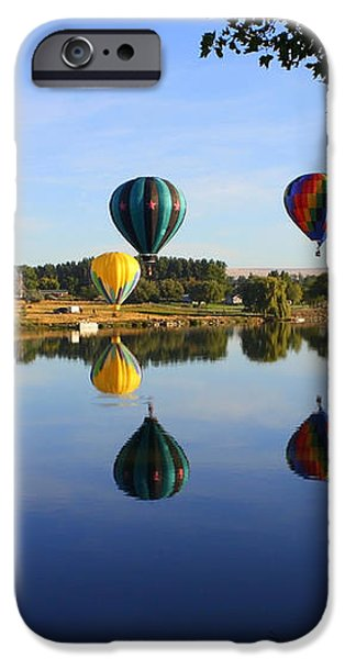 Balloons Heading East iPhone Case by Carol Groenen