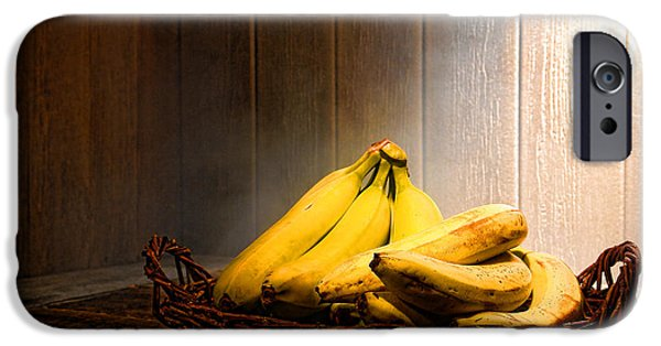 Fruit Basket iPhone Cases - Bananas iPhone Case by Olivier Le Queinec