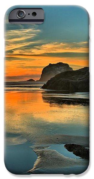 Bandon Beach Sunset iPhone Case by Adam Jewell