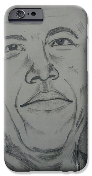 Barack Obama iPhone Cases - Barack Obama iPhone Case by Collin A Clarke