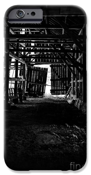 Barns iPhone Cases - Tobacco Barn Interior iPhone Case by HD Connelly