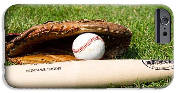 Baseball Glove iPhone Cases - Baseball iPhone Case by Simone Amaduzzi Photographer