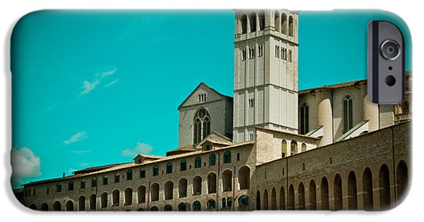 Towering Pyrography iPhone Cases - Basilica Of San Francesco Assisi  iPhone Case by Raimond Klavins
